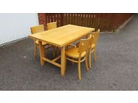 Habitat Beech Veneer Extending Dining Table 140cm & 4 Chairs FREE DELIVERY (02884)