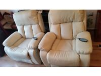 Recliner Leather Heated Chair with Massage