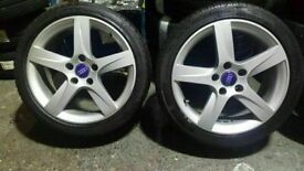 "set of mint 17"" audi/vw alloys new tyres all round quick sale £250"