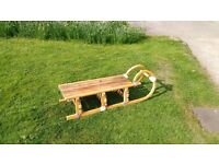 wooden ornamental sledge