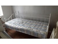 White day bed with mattress