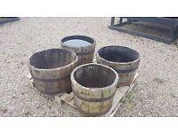 Half Sized Wooden Barrels