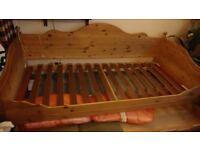 Real wood day bed with underneath bed/storage