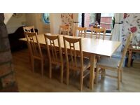 12 seater dining table (not chairs) slight surface damage. Collection only.