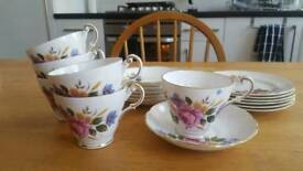 Regency China 18pc Tea Set- Rose