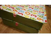 Ikea toy storage boxes two under bed one large trunk