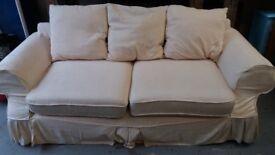Cream Fabric Three Seated Sofa