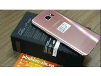 SAMSUNG GALAXY S7 EDGE ROSE GOLD BOXED O2 GOOD CONDITION £330 OR NEATEST OFFEES