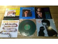 16 x elvis costello vinyl LP's / 12 inch - orig armed forces / 7 inch singles