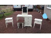 bedroom dressing table and bedside tables