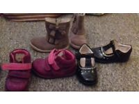 Clarks girls shoes size 5f