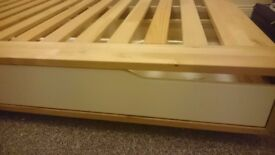 Double bed frame with 4 drawers