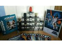 Star wars helmet collection 1-19 plus metal poster r2d2 usb and folder and books. Will swap for lego