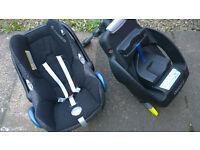 MAXI COSI car seat ''from birth'' & ISO base