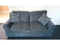Tabitha Fabric Sofa Bed - Charcoal.