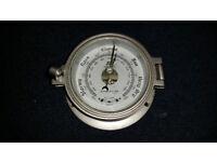 "Plastimo 4½"" Port Hole Barometer - Matt Chrome"
