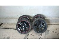 new age impreza wrx alloys with tyres