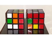 Bundle of 2 RUBIK'S 3X3 CUBE Colour Matching Mental Puzzle 43 Quintillion Per Cube