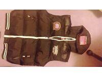 Mens hooded gillit (brand new unworn with labels). Black.