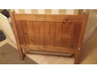 Single wooden bedframe. Free local delivery.