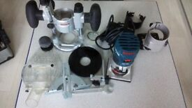 Bosch GFK 600 Palm Router with various Bases 240V