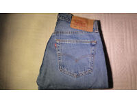 Levis Original 501 Blue Straight Button Fly Red Label USA Jeans W30 L31 WPL423