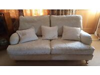 2 x 3 Seater Cream Multiyork Settee's (Removable Covers)