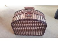 large picnic basket with all contents included, vgc