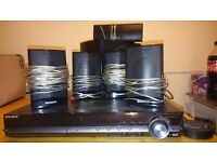 Sony surround sound home cinema system sub woofer and iPod extension player.