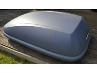 Halfords 420l roof box and bars. Only used twice