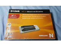 D Link wifi N usb adapter *New-Sealed*