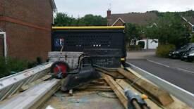 2 very heavy duty steel tool boxs**