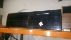 A brand new black finish 1 door TV unit.