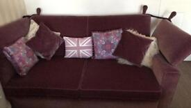 Pink 3 Seater Sofa For Free