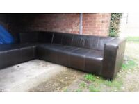 Italian leather corner sofa FREE DELIVERY