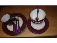 Dinnerware full set, cooking pots & pans, toaster etc...