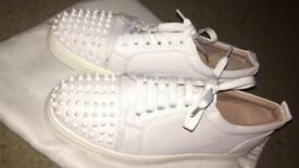 Men's Christian louboutin white lows