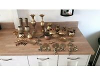 various vintage brass collectables