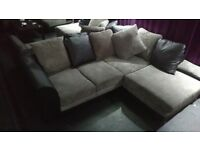 Corner sofas for sale, 2 toned light and dark brown, GOOD condition. 10 AVAILABLE