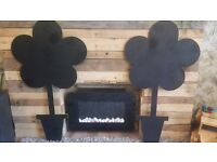 Homemade flower chalkboards