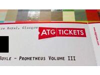 Frankie Boyle Prometheus III Sat 18th incredible seat ROW BBB (Ticket in Hand)