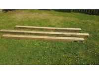 3 solid oak beams for sale