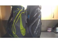 two golf bags used lightly
