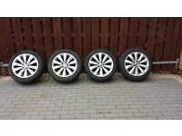 VW Passat B7 genuine Sao Paolo alloy wheels 5x112 EH47 with tyres 235 45 17