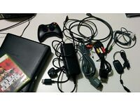 XBOX360 SLIM 4GB + 320GB Hard Drive + 2 games + 1 controller + all cables