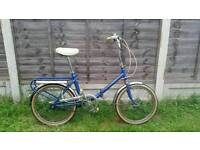 Single speed fold up bike