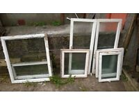 wooden windows. single pain good for garden project