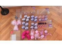 BOXED PINK & PURPLE CHRISTMAS DECORATION BUNDLE - 39 VERY FANCY BAUBLES