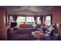 8 Berth Modern deluxe extra wide caravan for hire in Trecco bay, Porthcawl.Close to amenities