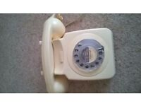 BT Dial Telephone in White